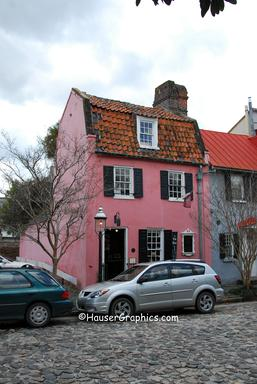 "Morawetz ""Pink House"", 17 Chalmers, constructed circa 1712.  Saved by Victor Morawetz in 1930's unfortunately no where on the Pink House does he and his wife, Marjorie, get credit."