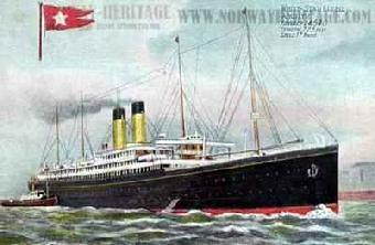 1908-SS Adriatic, by the White Star Line.  Victor Morawetz takes a trip from N.York to London on this ship owned by the same owner as the Titanic.