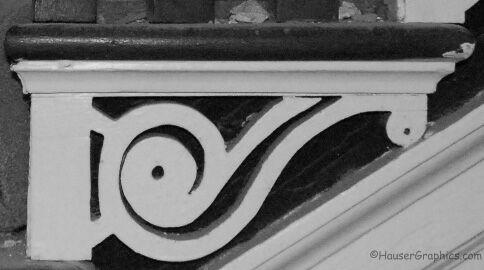 Fenwick Hall Stair Case Stringer Design. The Manor house was built in 1730 by John Fenwick.