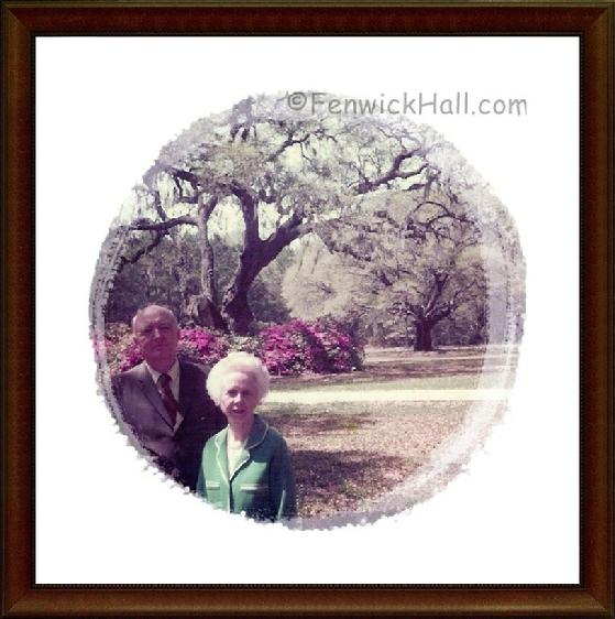 Claude & Nellie Blanchard, Sr on the grounds of their wonderful Fenwick Hall Plantation. Photo taken in late 1970's. Photo courtesy of their grandson, Claude W.Blanchard III of Charleston.