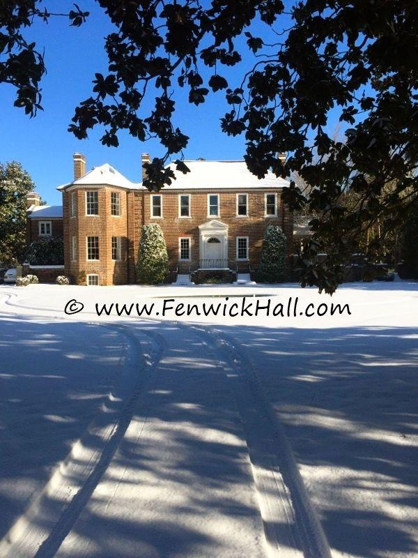 Fenwick Hall snow,  Hauser Graphics, John Hauser
