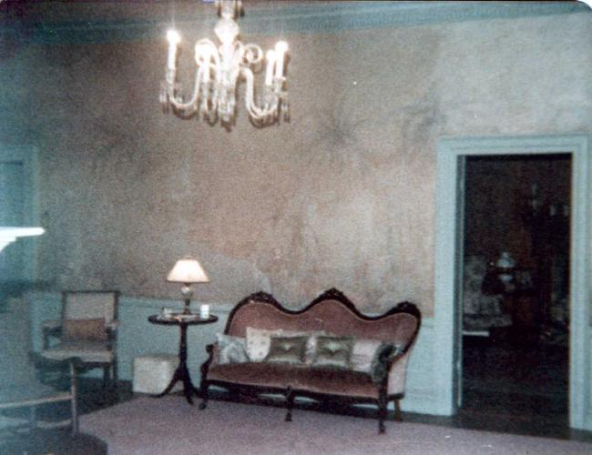 1970's Great Hall before mural was destroyed by Charter Hospital.