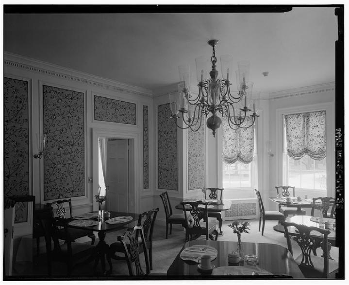 Octagon wing, 1st floor dining room, Charter Hospital Years, John's Island, SC, Stono River Plantation,