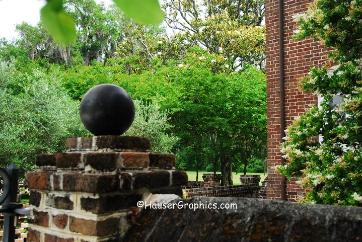 cannon ball, ancient bricks, Fenwick, charleston, english manor house, charleston militia, wood storks