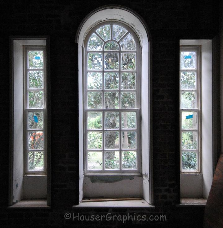 Palladian Window of Fenwick Hall Plantation on John's Island, SC. One of the earliest Palladian Windows used in a home in S.Carolina.
