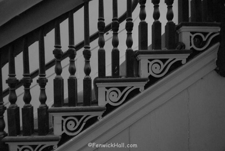 Fenwick Hall Stairs Mahogany Baluster, Charleston Plantation, John Fenwick,