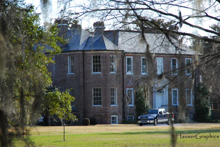 Fenico, octagonal wing, english brick, drayton hall