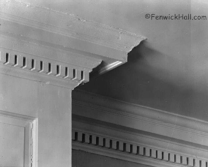 architecture detail Fenwick Hall, dentil,