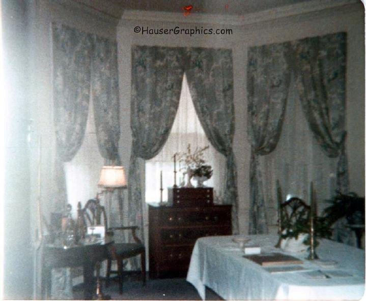 Helena I Blanchard's formal dining room at Fenwick Hall Plantation.