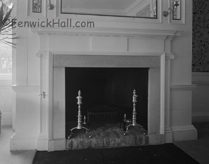 Fenwick Hall's formal dining room fire place. In octagonal section constructed in 1780's by John Gibbes.