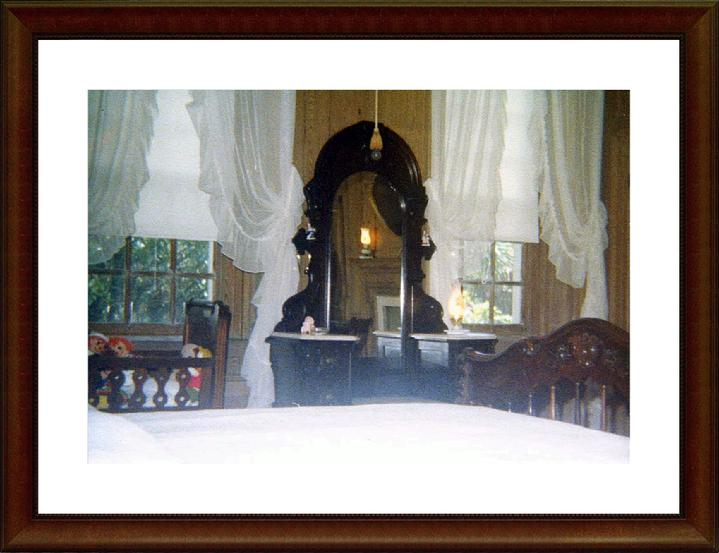 1974, Guest Room with the childrens toys  1970's. Upstairs bedroom facing the Stono River.  This is the room haunted by Edward Fenwick's Daughter. Lucky guest stayed in this room with the ghost.  Photographer John R. Hauser