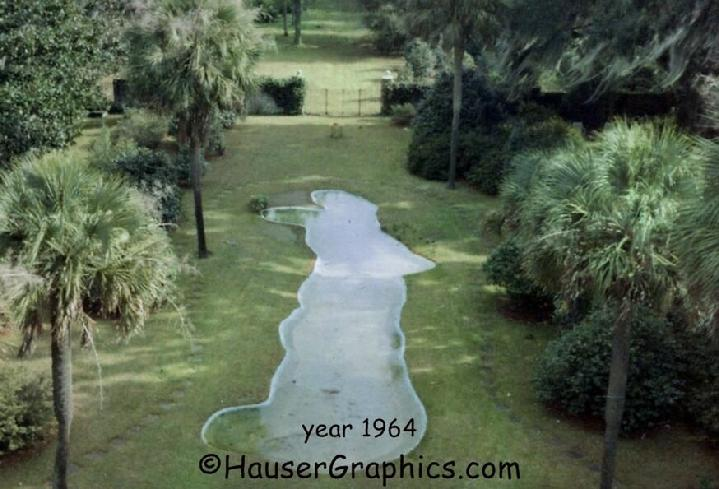 Reflection Pond, Fenwick, Victor Morawetz, Charleston Plantations, Fountains, Johns Island, Hauser Graphics.