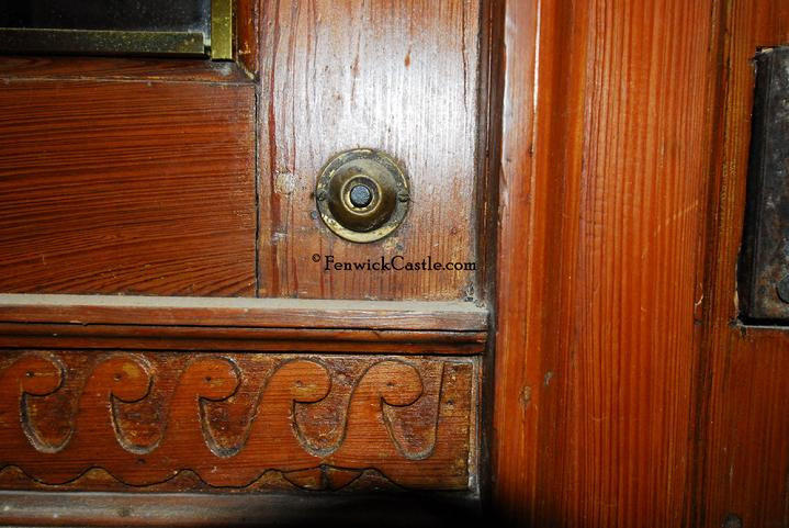 Fenwick Castle molding detail and 1930 doorbell