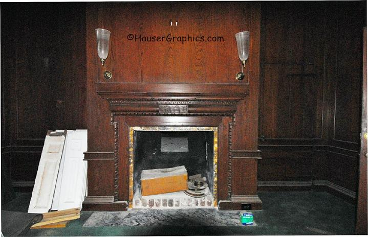 NE Corner Paneled Palladian window room after Charter. During renovation.